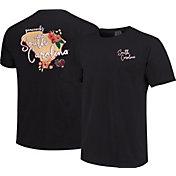 Image One Women's South Carolina Gamecocks Grey Floral State T-Shirt