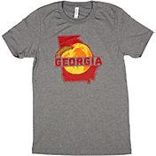 Home State Apparel Men's Georgia Peach Short Sleeve T-Shirt