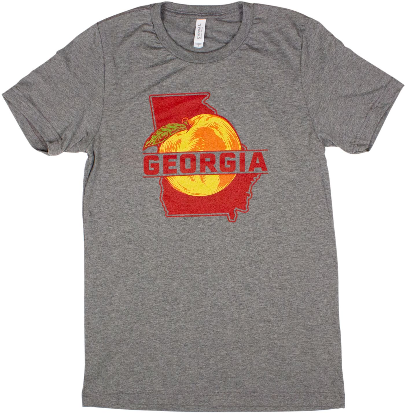 Home State Apparel Men's Georgia Peach Short Sleeve T-Shirt