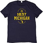 Home State Apparel Men's Michigan 1837 T-Shirt