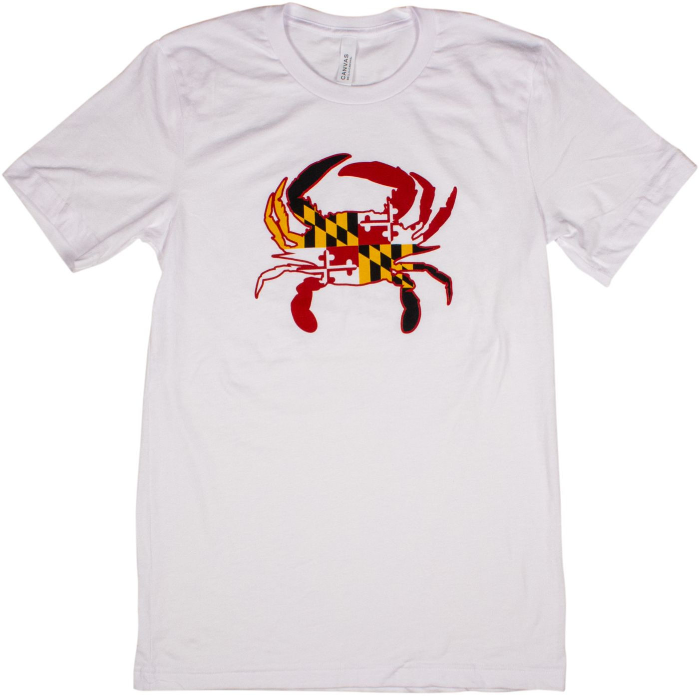 Home State Apparel Men's Maryland Crab With Flag Short Sleeve T-Shirt