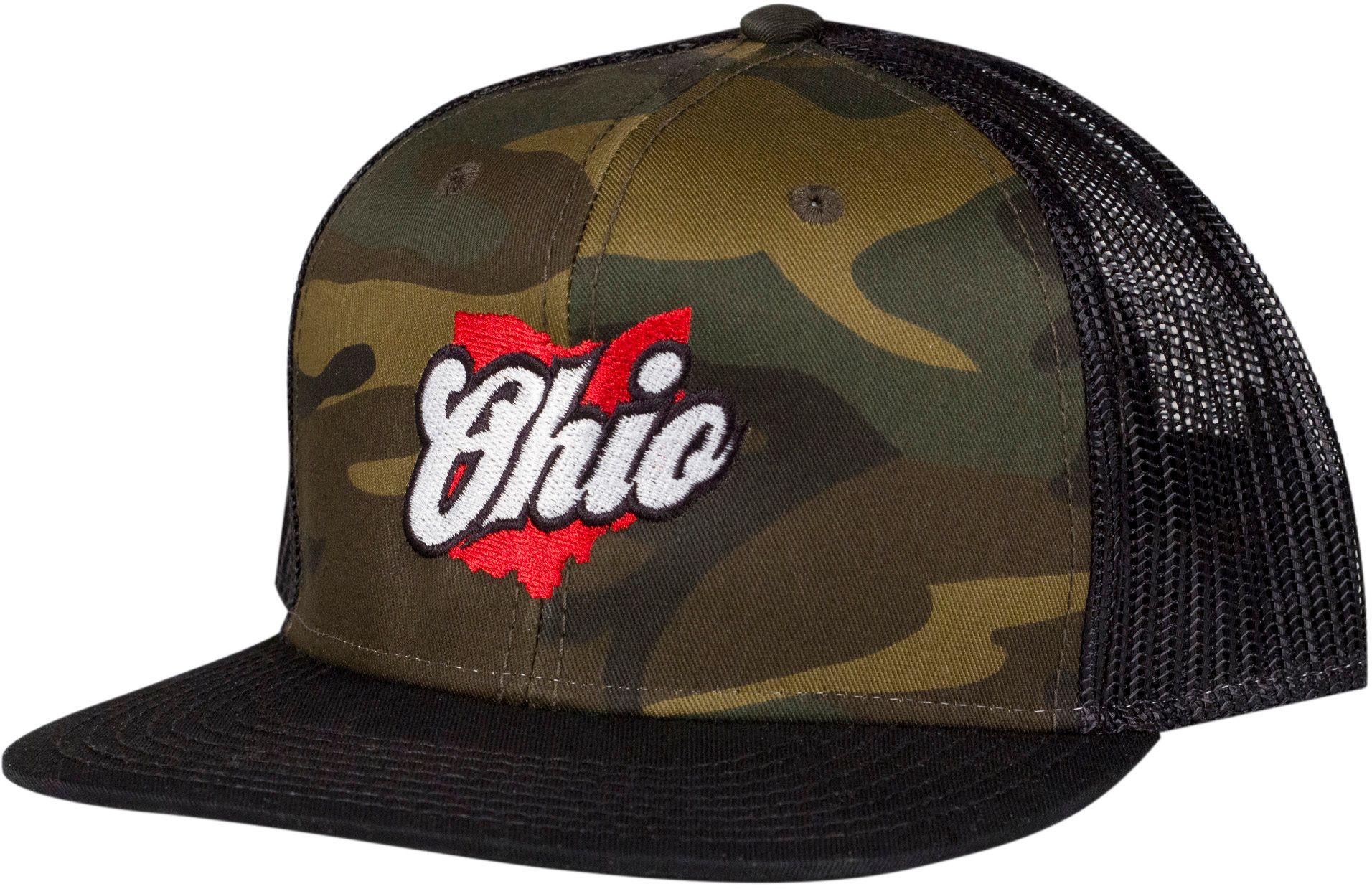 Home State Apparel Ohio Graphic Trucker Hat, Men's, Camo