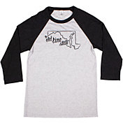 Home State Apparel Women's Maryland Freehand Three Quarter Length Sleeve Raglan T-Shirt