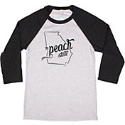Home State Apparel Women's South Carolina Freehand Three Quarter Length Sleeve Raglan T-Shirt