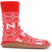 MUK LUKS Game Day Men's Nebraska Cornhuskers Slipper Socks