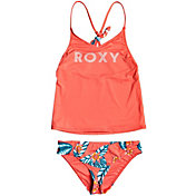 Roxy Girls' Floral Time Tankini Two Piece Swimsuit