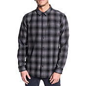 Quiksilver Men's Inca Gold Check Long Sleeve Button Down Shirt
