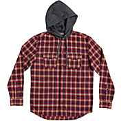 Quiksilver Men's Snap Up Hooded Flannel Shirt