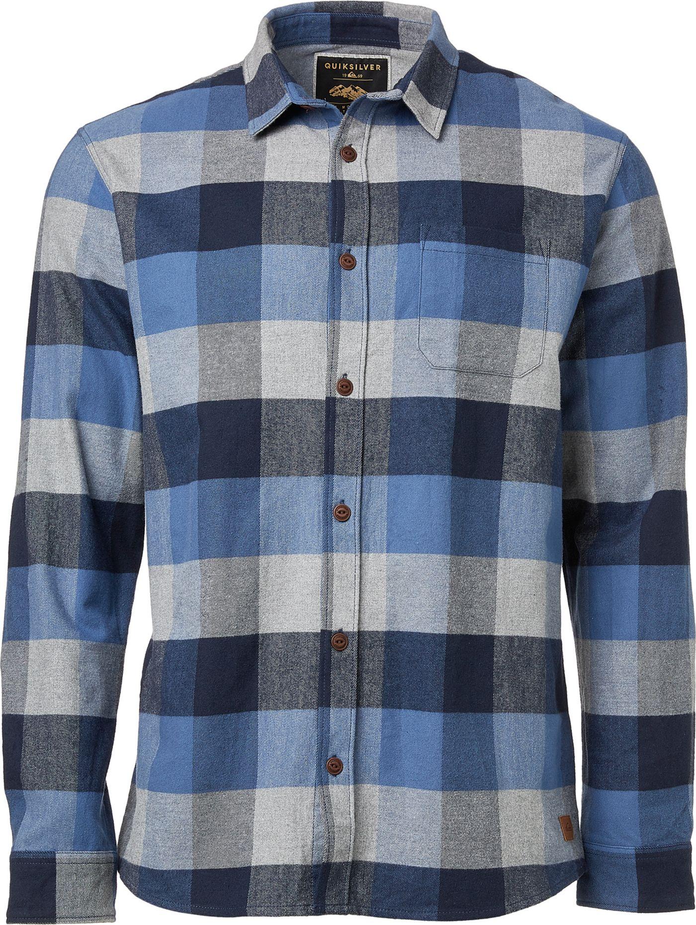 Quiksilver Men's Stretch Flannel Long Sleeve Shirt