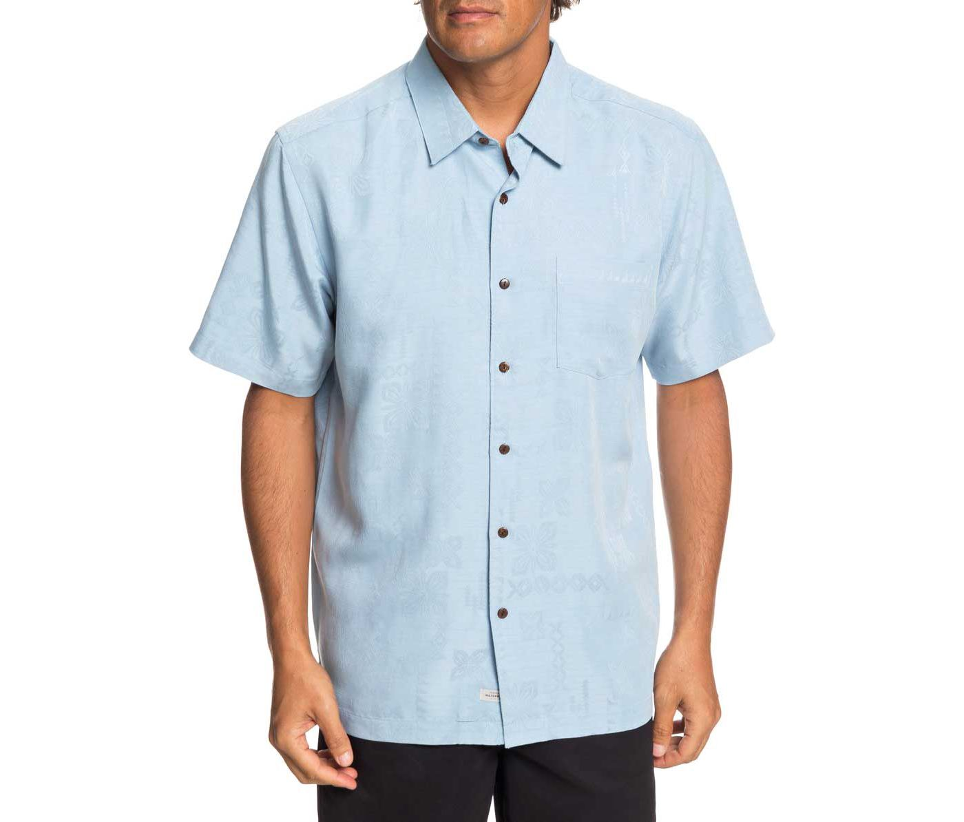 Quiksilver Men's Waterman Kelpies Bay Short Sleeve Shirt