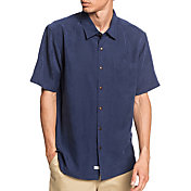 Quiksilver Men's Waterman Kelpies Bay Short Sleeve Button Up Shirt