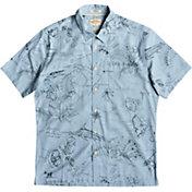 Quiksilver Men's Waterman Pacific Records Short Sleeve Button Down Shirt