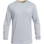 Quiksilver Men's Waterman Water Marked Long Sleeve Lycra Rash Guard