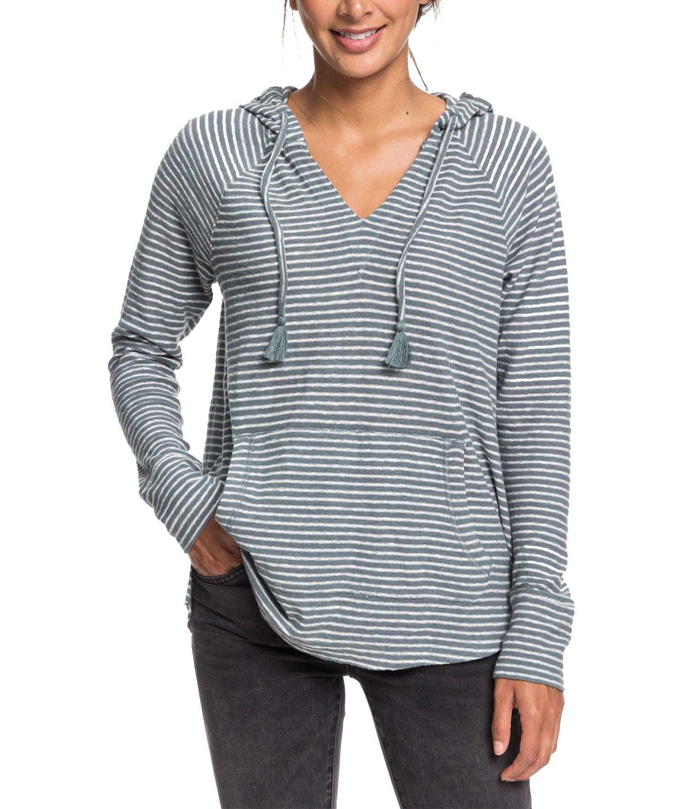 Roxy Women's Long Night Hooded Long Sleeve Shirt