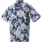 Reyn Spooner Men's Atlanta Braves Navy Aloha Button-Down Shirt