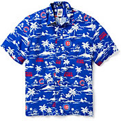 Reyn Spooner Men's Chicago Cubs Vintage Rayon Button-Down Shirt