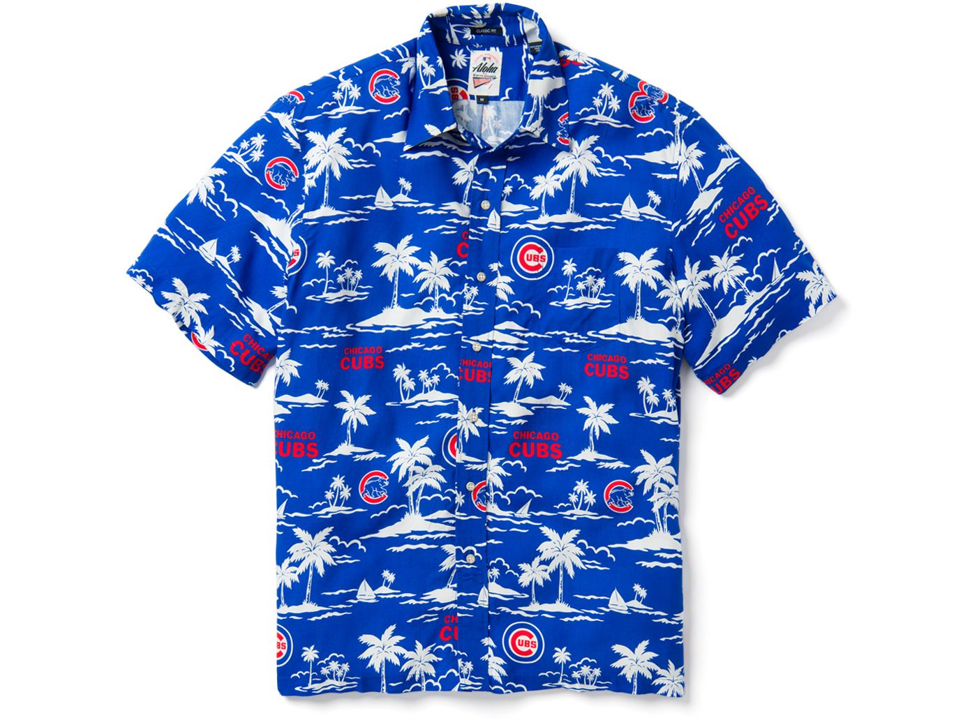 Reyn Spooner Men's Chicago Cubs Vintage Rayon Button-Down Shirt