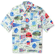Reyn Spooner Men's Chicago Cubs Scenic Button-Down Shirt