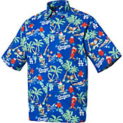 Reyn Spooner Men's Los Angeles Dodgers Blue Christmas Button-Down Shirt