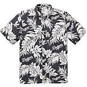 Reyn Spooner Men's Los Angeles Dodgers Black Aloha Button-Down Shirt