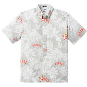 Reyn Spooner Men's Houston Astros Gray Aloha Button-Down Shirt