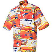 Reyn Spooner Men's Houston Astros Orange Scenic Button-Down Shirt