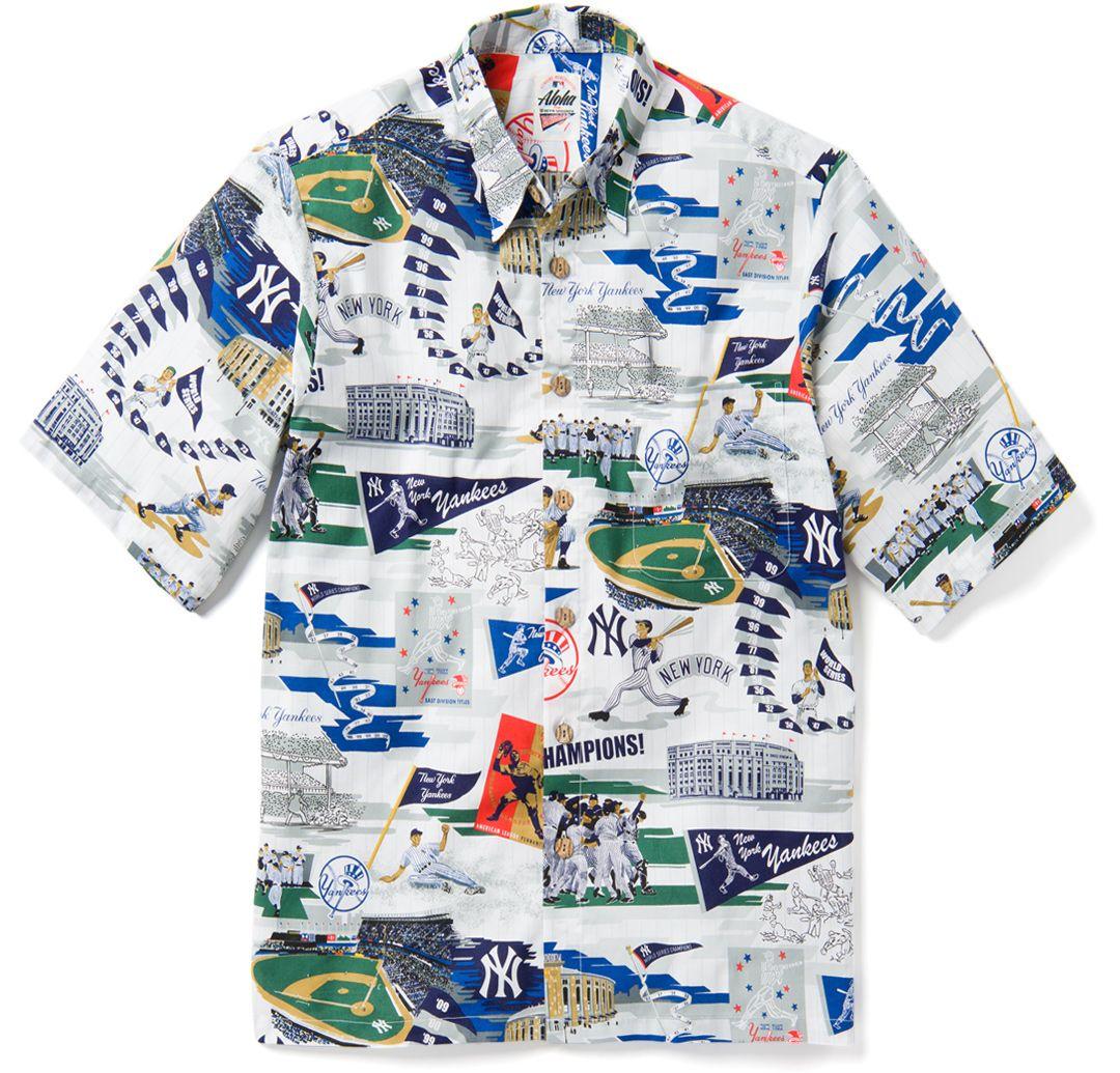 low priced be94d fa191 Reyn Spooner Men's New York Yankees Scenic Button-Down Shirt