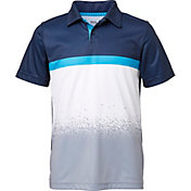 DSG Boys' Colorblock Splatter Fade Golf Polo