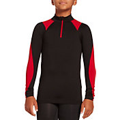 DSG Boys' Cold Weather Compression 1/2  Zip Long Sleeve Shirt