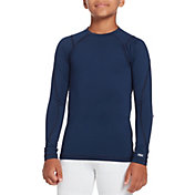 DSG Boys' Cold Weather Compression Crew Long Sleeve Shirt