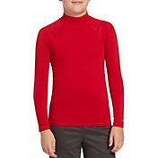 DSG Boys' Cold Weather Compression Mock Neck Long Sleeve Shirt