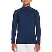 DSG Boys' Cold Weather Compression Mock Neck Long Sleeve Shirt