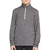 DSG Boys' Run 1/2 Zip Long Sleeve Shirt