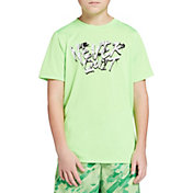 DSG Boys' Graphic Training T-Shirt in Android Green/Never Quit
