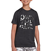 DSG Boys' Graphic Training T-Shirt in Black/Ashpalt/Own the Gam