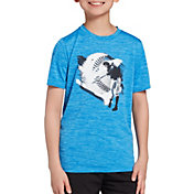 DSG Boys' Graphic Training T-Shirt in Blue Blaze/Bachelor