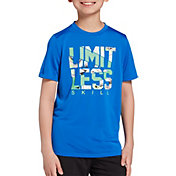 DSG Boys' Graphic Training T-Shirt in Blue Blaze/Limitless
