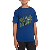 DSG Boys' Graphic Training T-Shirt in Dark Royal/Inner Beast