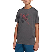 DSG Boys' Graphic Training T-Shirt in Dhg/Football Overlap