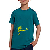 DSG Boys' Graphic Training T-Shirt in Everglade Soccer Silo