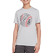 DSG Boys' Graphic Training T-Shirt in Lhg/Baseball Type