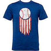 DSG Boys' Graphic Training T-Shirt in Navy/Blue/Baseball USA