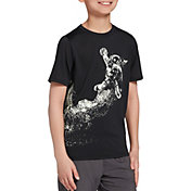 DSG Boys' Graphic Training T-Shirt in Pure Black/Spaceball