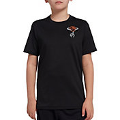 DSG Boys' Graphic Training T-Shirt in Pure Black Spinning Ball