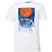 DSG Boys' Graphic Training T-Shirt in Pure White/Fango Bball