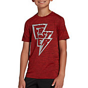 DSG Boys' Graphic Training T-Shirt in Team Burg/True Scarlet