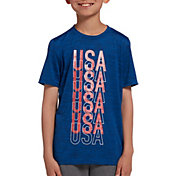 DSG Boys' Graphic Training T-Shirt in Univ Navy Blue Blaze Usa