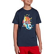 DSG Boys' Graphic Training T-Shirt in Univ Navy Htr/Splatter
