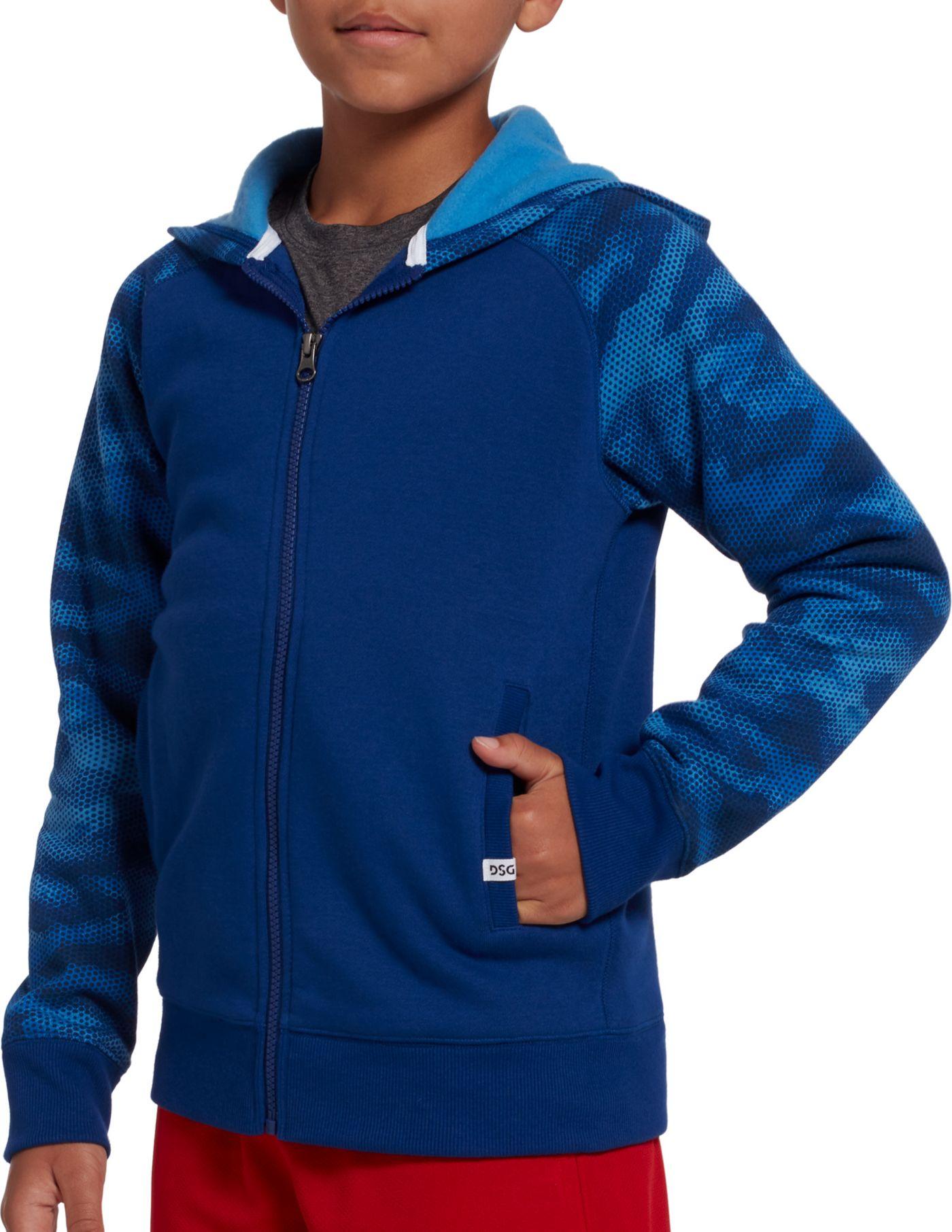 DSG Boys' Everyday Cotton Fleece Full Zip Hoodie