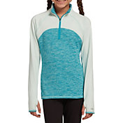 DSG Girls' Cold Weather Compression 1/4 Zip Long Sleeve Shirt